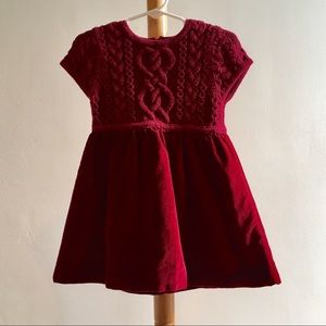 Rich Red Hanna Andersson Holiday Dress 18-24 Mo Sz